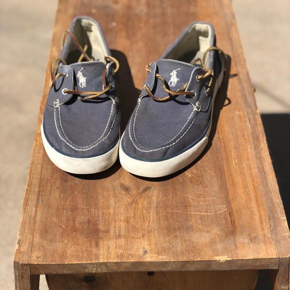 Navy Blue Polo Ralph Lauren Boat Shoes